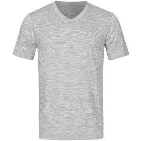super.natural Base 140 V Neck Tee Men, ash melange